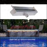 장식적인 가정 폭포 안쪽에 실내 옥외 정원과 수영장 장식적인 물 커튼 LED 빛
