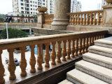 Горячая продажа мраморными лестницами Baluster белого камня/гранита поручни поручень для использования вилла дом украшения