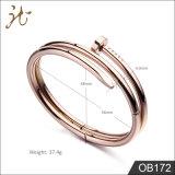 Armband Ob172 van de Spijker van de manier de Roestvrij staal Gepersonaliseerde