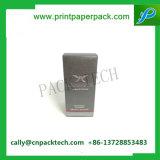 Perfume pila de discos la impresión negra con el rectángulo de regalo de sellado caliente de la cartulina