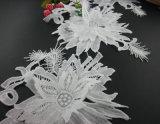 형식 3D 백색 자수 레이스