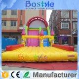Do campo de jogos interno grande das crianças do PVC corrediças infláveis grandes para a venda
