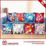 結婚式のソファーの装飾のメリークリスマスデザインマルチカラーLED枕カバー