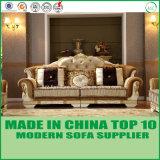 Sofà di legno di Loveseats del tessuto europeo classico di lusso della mobilia