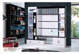Salle de séjour des armoires d'affichage TV en bois avec LED