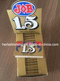 Trabajar con 1.5 Papel de fumar cigarrillos combustión lenta Herbing Rolling Paper 24 / Caja de folletos