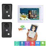 7-дюймовый беспроводной или проводной WiFi IP-видео сигнала Интерком одного монитора 2 камеры