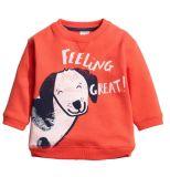 男の子の女の子の長袖のTシャツ、子供の子供のサイズ3-8yrsのための漫画の上