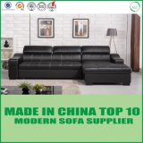 Base moderna do sofá do couro da mobília com armazenamento