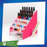 5-expositor de acrílico de la capa de esmalte de uñas acrílicas, Expositor de contador con serigrafía