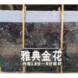 Golden mármol portoro Nero losas de mármol y azulejos de mármol,