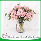 Colores artificiales Hortensia flores de seda para la decoración de interiores