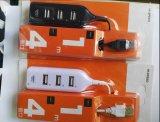 Cable del divisor del eje del USB de 4 accesos