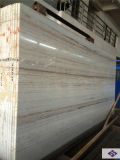 Marbre en bois en cristal polonais de veine, brames de marbre de nature pour la construction