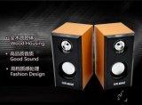 De Houten Stereo5V gelijkstroom Aangedreven Spreker van uitstekende kwaliteit van Desktop 2.0 USB