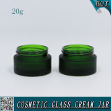 bereiftes leeres Glasglas der grünen Farben-20ml