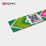Tyvek pulseras RFID desechables con el código QR