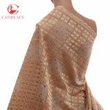 Il tessuto di cotone molle del fornitore di colore rosa cinese della pesca per cotone lapida il merletto di cerimonia nuziale