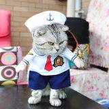 Vêtement de costume de vêtements de marin d'animal familier pour des crabots et des chats