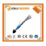 Изоляции PVC кабеля заплетения 3 сердечников провод медной электрический защищаемый