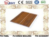 Painel de parede de madeira do painel de teto do PVC para a decoração Home, Cielo Raso De PVC