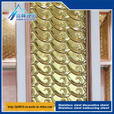 Dubai métal chaud la plaque de pression profonde Motif décoratif plaque en acier inoxydable