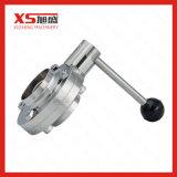 Válvula de borboleta da soldadura manual de aço inoxidável com punho da Multi-Posição
