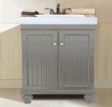 Vanité grise de salle de bains