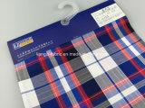 Verificación teñida del hilo de algodón con la tela de la gata para Shirt-Lz6988