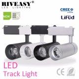 Heißes Spur-Licht AC85-265V des Verkaufs-30W silbernes Aluminiumder karosserien-LED