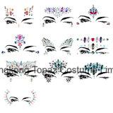 3D органа с красотами Crystal временные глаза Tattoo фестиваль сторона тела Блестящие цветные лаки наклейки (S069)