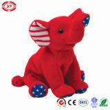 America Brand New Wholesale Elephant Plush Stuffed Soft Sitting Toy