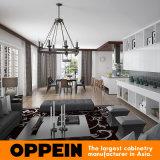 Самомоднейшая оптовая белая деревянная мебель кухни дома виллы зерна (OP16-Villa02)