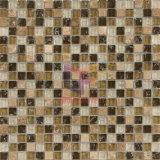 Mosaico di cristallo Cracked della miscela di pietra chiara di Emperador (CS126)