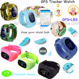 Intelligente GPS Verfolger-Uhr PAS-für Kind/Kinder mit Pedometer Y2