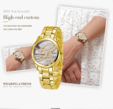 Two Color Gold T/T Jewelry Wrist Watch Belbi Luxury Analog Ladies Quartz Gift Jewelry Wristwatches Support OEM gold ODM Server