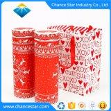 El tubo de cartón de papel de regalo personalizado Box Set con bolsa de papel