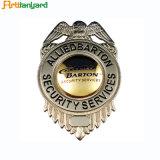 A polícia do metal do logotipo do projeto do cliente Badge
