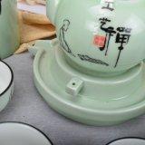 أخيرة يعتنق من بوذية خزفيّ شاي مجموعة مع تخزين عليبة و [جفت بوإكس]