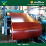 Bobine d'acier galvanisé prélaqué PPGI en acier revêtu de couleur