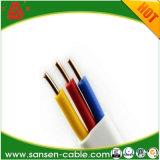 BVVB planos dobles de PVC con aislamiento de PVC cable forrado