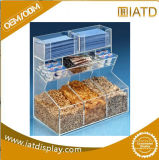 Cas d'exposition acrylique de partie supérieure du comptoir claire pour l'oiseau/chaussure/nourriture/gâteau