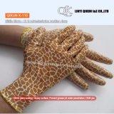 K-107 13ゲージポリエステルナイロン綿のニトリルの上塗を施してある安全働く手袋