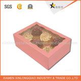 Boîte en papier de gâteau en papier Kraft Eco-Friend personnalisée avec couvercle clair