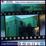 De moderne Lichte Huizen van de Container van de Opslag van de Villa van het Staal van de Maat