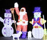 Décoration 3D Shopping Mall de Noël LED Motif Snowman Lumière