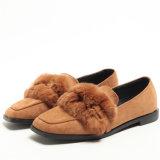 새로운 디자인 Shoes 편평한 Doug 연약한 밑바닥 스웨드 숙녀