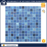 Heiße Absatzprogramm-blaue Farben-goldene Zeile Glas-Mosaik