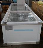 Magazzino frigorifero dell'alimento del congelatore dell'isola in congelatore dell'annuncio pubblicitario del supermercato