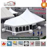 15m de largura misturados picos altos de tenda com extremidades Multi-Side paredes laterais em PVC branco comum a toda a volta